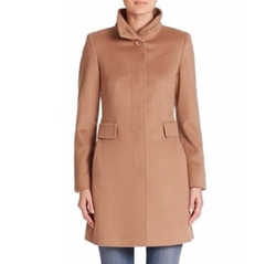 Max Mara - Agnese Virgin Wool Funnelneck Coat