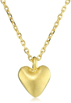 "Satya Jewelry  - ""Classics"" Heart Puff Pendant Necklace"