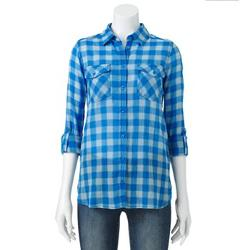 Sonoma Life + Style - Textured Roll-Tab Camp Shirt
