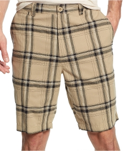Club Room - Flat Front Plaid Shorts