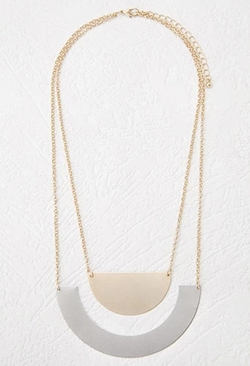 Forever 21 - Layered Matte Geo Necklace
