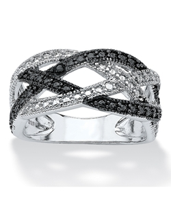 Palmbeach Jewelry - Diamond Accent Pave Crossover Ring