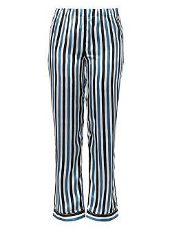 Raphaëlla Riboud  - Frantz Striped Silk Pyjama Trousers