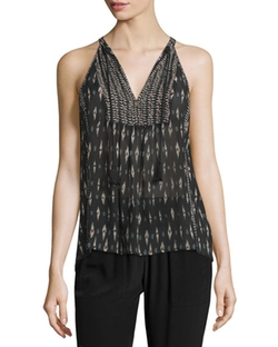 Joie Shara  - Printed Sleeveless Silk Top