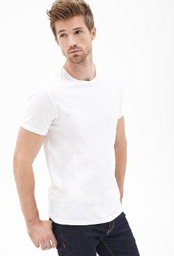 Forever 21 - Cotton Modal Crew Neck Tee Shirt