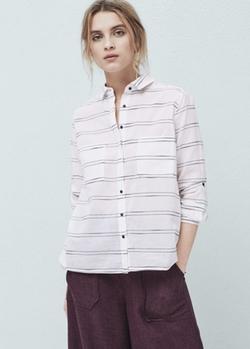 Mango - Striped Cotton Shirt
