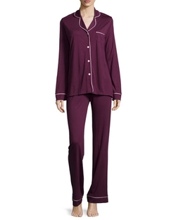Cosabella  - Bella Contrast-Trim Long-Sleeve Pajama Set