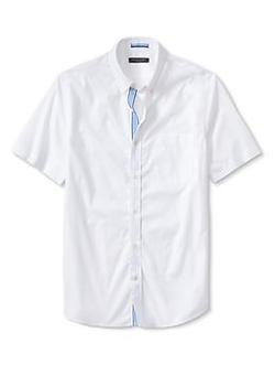 Banana Republic - Tailored Slim-Fit Button-Down Short-Sleeve Shirt