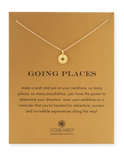 Dogeared  - Going Places Gold Compass Pendant Necklace