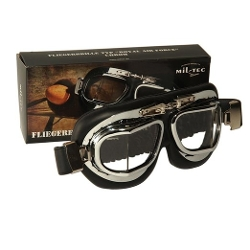 Miltec - Deluxe WW2 Reproduction RAF British Aviator Style Flying Goggles