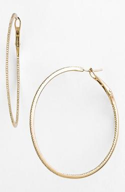 Dana Rebecca Designs  - Diamond Inside Out Hoop Earrings