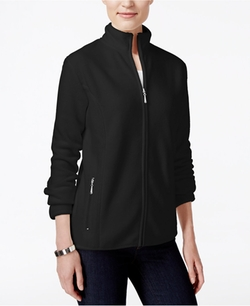Karen Scott  - Zip-Up Fleece Jacket
