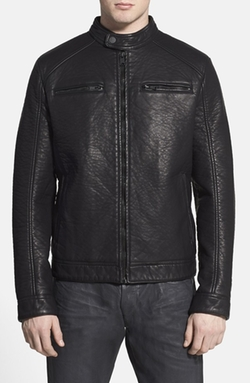 Rogue  - Faux Leather Racer Jacket