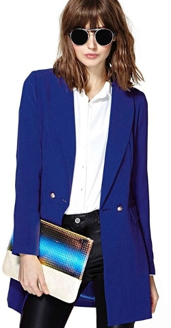Hunger Shopping - Bf Style Casual Blazer Blue