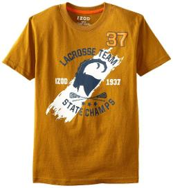 Izod  - Kids Boys 8-20 Lacross Team State Champs Tee Shirt