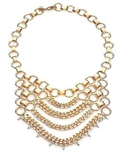 Dannijo  - Ari Draped Chain Bib Necklace