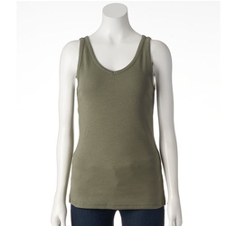 Sonoma Life + Style - Ribbed Graphic Tank Top