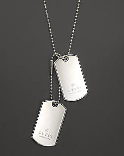 Gucci  - Dogtag Necklace in Sterling Silver