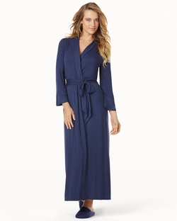 Embraceable Cool Nights - Long Robe Navy