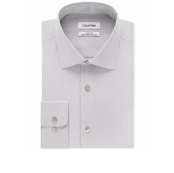 Calvin Klein STEEL - Classic-Fit Non-Iron Herringbone Dress Shirt