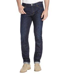 Koral - Slim Straight Leg Cuffed Selvage Jeans