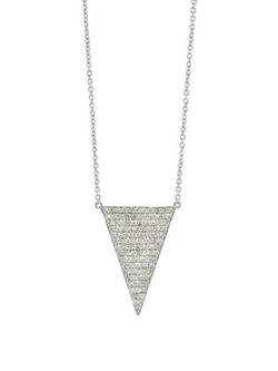 Jennifer Meyer - Large Pave Diamond Triangle Necklace