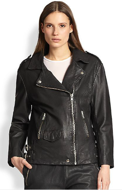 Oak  - Perforated Leather Biker Jacket
