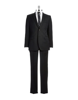 Lauren Ralph Lauren  - Slim Fit Two-Piece Wool Pants Suit