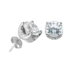 Diamon Art - Cubic Zirconia Stud Earrings
