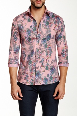 Ron Tomson - Floral Print Skinny Fit Shirt