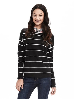Banana Republic - Tipped Stripe Italian Cashmere-Blend Sweater