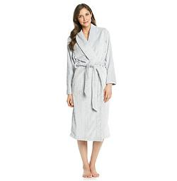 KN Karen Neuburger - Fleece Cable Texture Wrap Robe