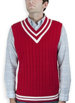 Blue Ocean  - Cable Sweater Vest