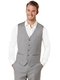 Perry Ellis - Regular Fit Herringbone Suit Vest