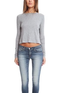 Rag & Bone  - Rai Cropped Long Sleeve Tee