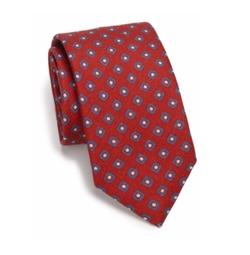 Saks Fifth Avenue Collection - Diamond Print Silk & Wool Tie