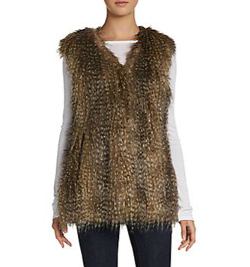 Via Spiga  - Faux Fur Zip Vest