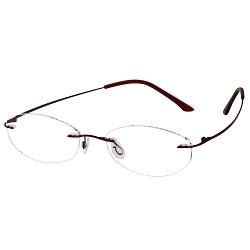 EyeBuyExpress - Titanium Rimless Oval Eyeglasses