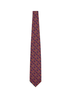 E. Marinella  - Floral Arabesque Print Five Fold Silk Tie