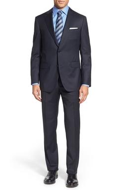 Pal Zileri - Classic Fit Solid Wool Suit