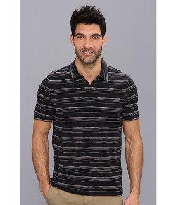 Perry Ellis  - Short Sleeve Space Dye Open Polo Shirt