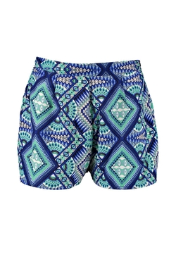 Boohoo - Trudy Spiral Print Woven Shorts