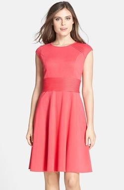 Eliza J - Ponte Knit Fit & Flare Dress