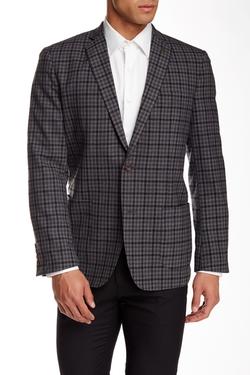 Wallin & Bros  - Trim Fit Check Wool Sport Coat