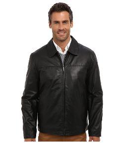 Perry Ellis  - Leather Bomber Jacket