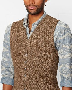 Ralph Lauren  - Wool Tweed Vest