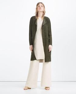 Zara - Suede Coat