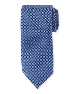 Ermenegildo Zegna - Neat Micro Geo-Print Silk Tie