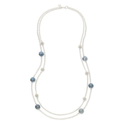Monet - Stone Silver-Tone Station Necklace