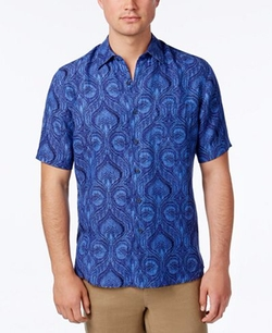 Tasso Elba - Tropical Brocade Shirt